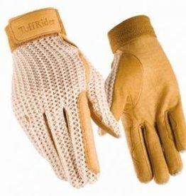 Tuff Rider Crochet Back Glove Tan 5