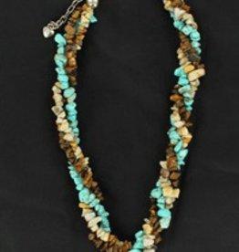 Necklace - Triple Twist Stones