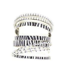Bracelet - Zebra Bangle Set