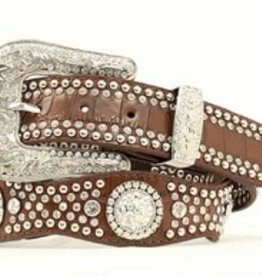 Nocona Adult - Nocona Scalloped Brown Croc Belt