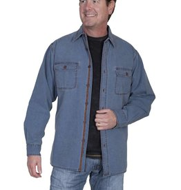 Scully Leather Men's Scully Blue Canvas Shirt