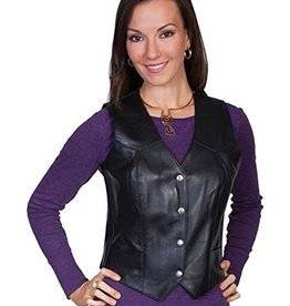 Scully Leather Women's Scully Soft Touch Lamb Leather Vest, Black
