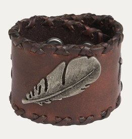 Noble Bracelet - Leather Bird Feather