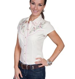 Scully Women's Scully Capsleeve Shirt, Cream Medium - SALE $25