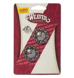 Weaver Antique Silver Berry Concho with Post - 1-1/4""