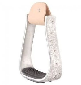 Tough-1 Engraved Aluminum Stirrups with Crystals