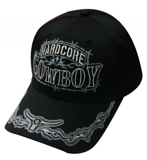 Showman Hardcore Cowboy Baseball Cap Gass Horse Supply