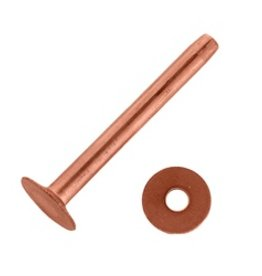 Weaver Asst. Copper Rivets & Burrs - 1Lb