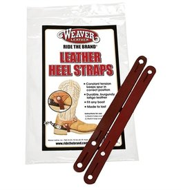 Weaver Latigo Leather Spur Heel Straps - Two Adjustments