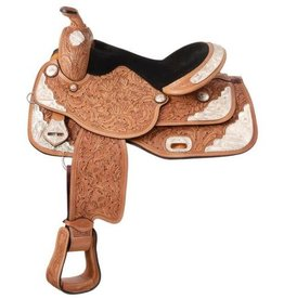 Royal King Seven Oaks Silver Show Saddle Package - 14""
