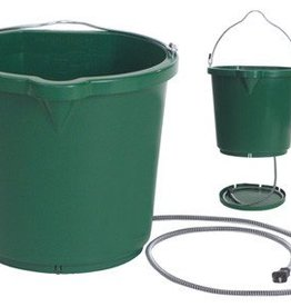 Heated Flat Back Bucket, Green - 5 Gal