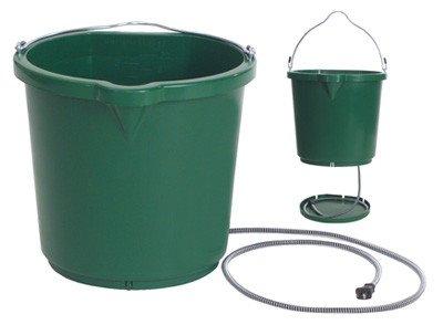 Heated Flat Back Bucket, Green - 5 Gal