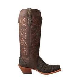 Twisted X Women's Rancher Boot – Croco Dark Chocolate