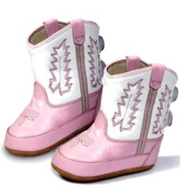 Old West Infant's Old West Western Boot - White/Pink