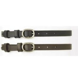 "Camelot Ladies Spur Straps Black 1/2""x18"""