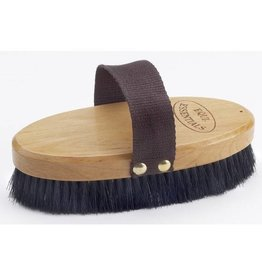 Centaur Wood Back Body Brush w/ Horse Hair Bristles