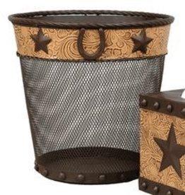 Tough-1 Wastebasket Star/Horseshoe Metal Small