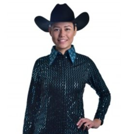 Royal Highness Women's Horseshoe Rhinestones Show Jacket - L