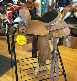 "Tough-1 121"" King Series Barrel Saddle - FQHB"