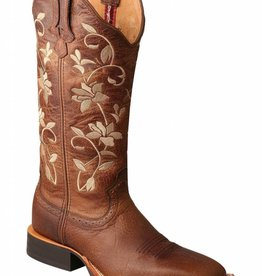 Twisted X Women's Twisted X Floral Ruff Stock Boot Square Toe