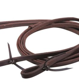 "Showman Showman Weighted Split Leather Reins - 5/8"" x 8'"