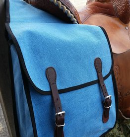 Action Blue Canvas Saddle Bag