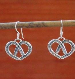 Baron Silver Earrings - Horseshow Heart