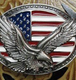 Rockmount Belt Buckle - Flag and Eagle