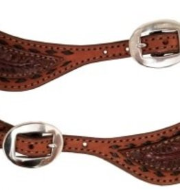 Alamo Spur Strap, Rough-Out w/Black Buckstitch
