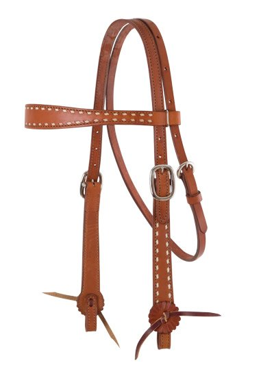 Alamo Alamo Caramel Toasted Old Timer Headstall with Buckstitching