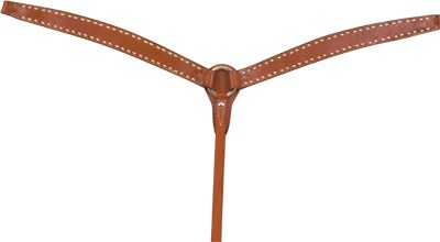 Alamo Alamo Caramel Toasted Old Timer Breast Collar with Buckstitching