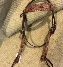 Alamo Alamo Wide Cut Chocolate Rough Out Headstall