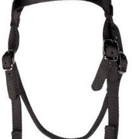 Triple E Triple-E Nylon Browband Headstall Navy - Horse (USA Made)