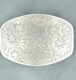 Nocona Belt Buckle - Floral Engraved Scrolling