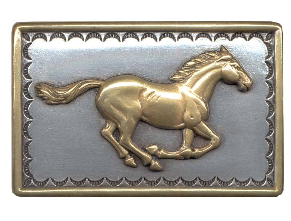 Belt Buckle - Galloping Horse