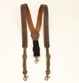Nocona Western Style Pant Suspenders Leather