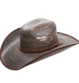 Justin Bent Rail Fenix Straw Hat Black