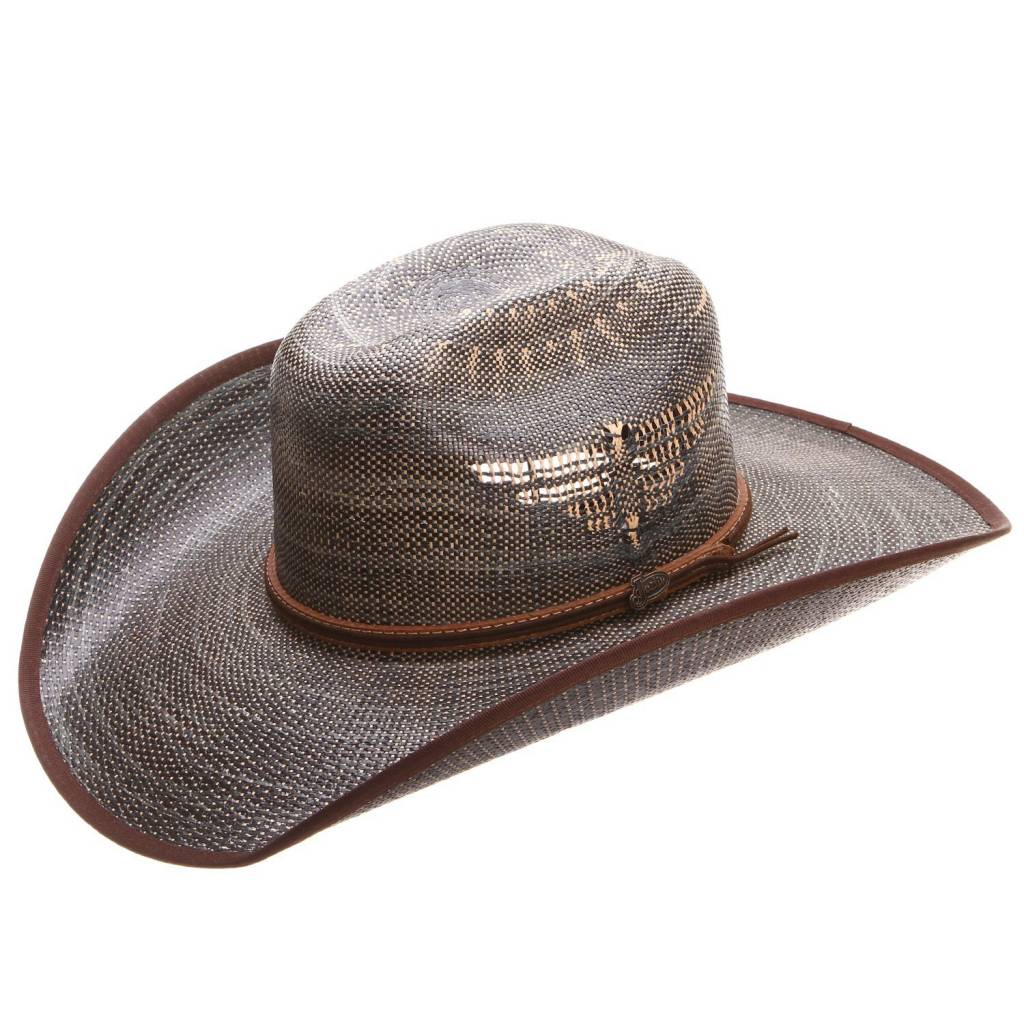 Justin Bent Rail Fenix Straw Hat Black - Gass Horse Supply   Western ... 0c40710d5cb6