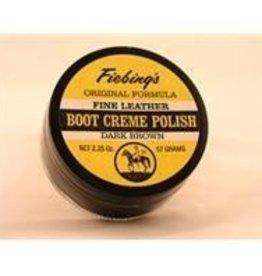 Fiebing's Boot Creme Dk Brown - 2.25 oz