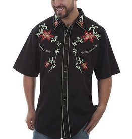 Scully Men's Scully Short Sleeve Embroidered Shirt