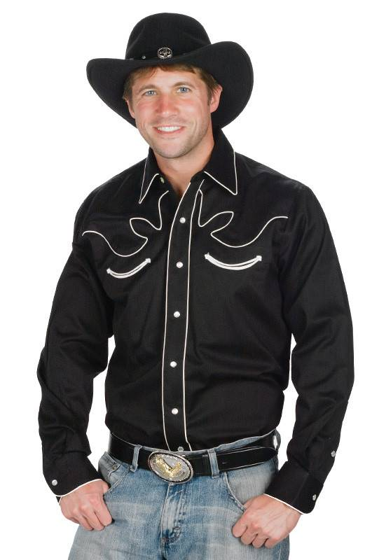 106902f0ee1 WEX Men's Retro Western Shirt, Black XXXL - Reg $49.95 @ 50% OFF!