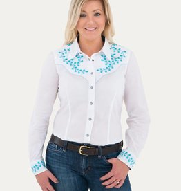 Noble Women's Noble Nashville Embroidered Shirt, White - Reg $79.95 now $44.95!!