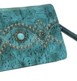 Wallet - Turquoise Messanger Clutch