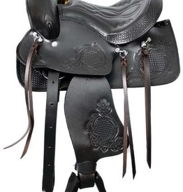 "Showman 10"" - Economy Pony Saddle with Top Grain Leather Seat"