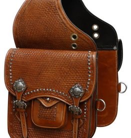 Showman Tooled Leather Saddle Bag