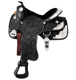 Silver Royal Premium Grand Majestic Silver Show Saddle with Classic Silver Trim - 12""