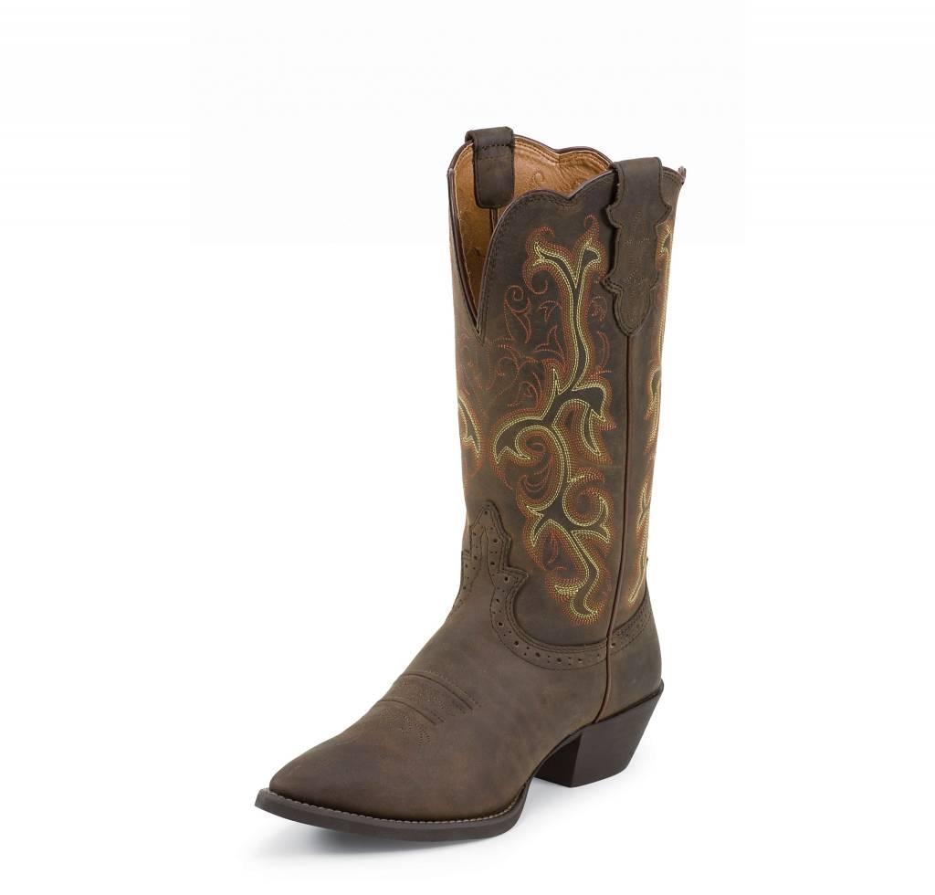 Justin Western Women S Justin Sorrel Apache Stampede Boots