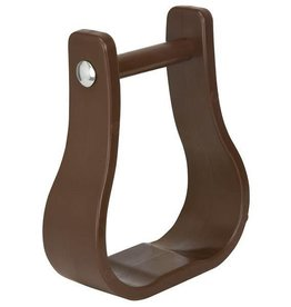Weaver Polymer/Synthetic Western Stirrups - Brown, Full