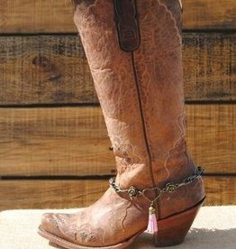 Redneck Couture Boot Bracelet - Ida Mae, Brown Adult