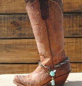 Redneck Couture Morgan Grace Boot Bracelet Turquoise Tassle Rose